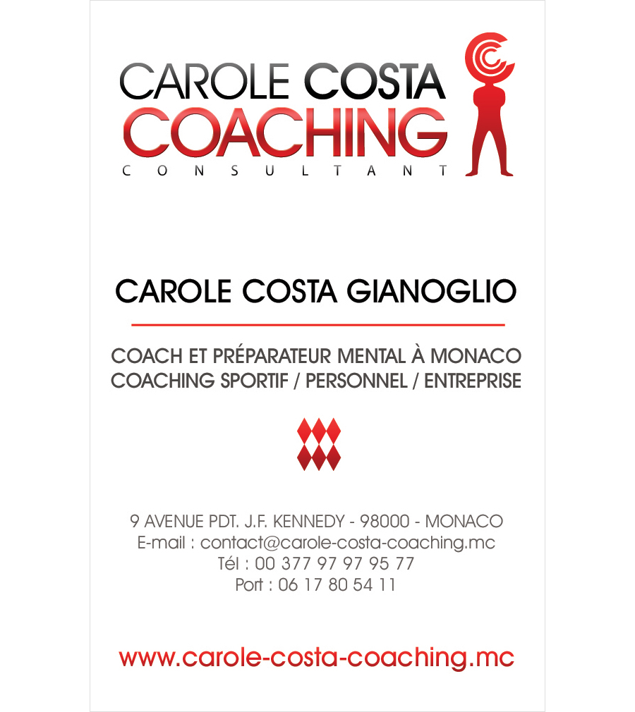 carte commerciale Carole Costa Coaching